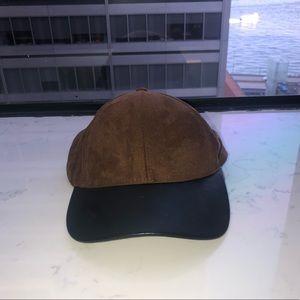 Aritzia Wilfred Free brown suede hat